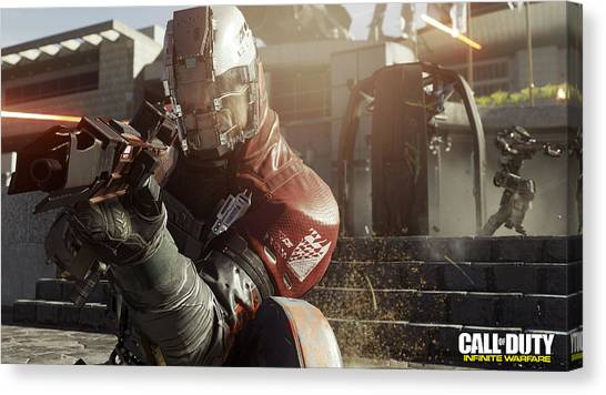 Call Of Duty Canvas Print - Call Of Duty Infinite Warfare by Lonna Egleston