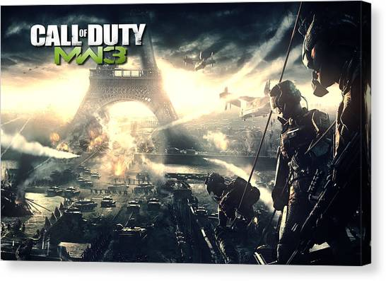 Call Of Duty Canvas Print - Call Of Duty Modern Warfare 3 by Eloisa Mannion