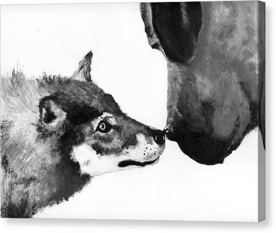 Call Of The Wild Illustration Canvas Print by Jessica Kale