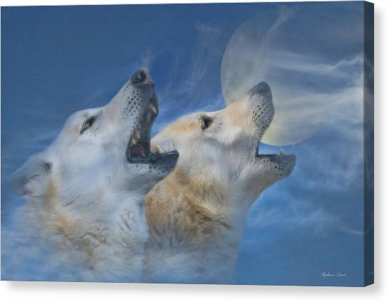 Wolf Moon Canvas Print - Call Of The Wild by Stephanie Laird