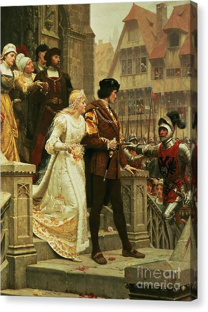 Groom Canvas Print - Call To Arms by Edmund Blair Leighton