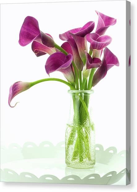 Calla Bouquet Canvas Print