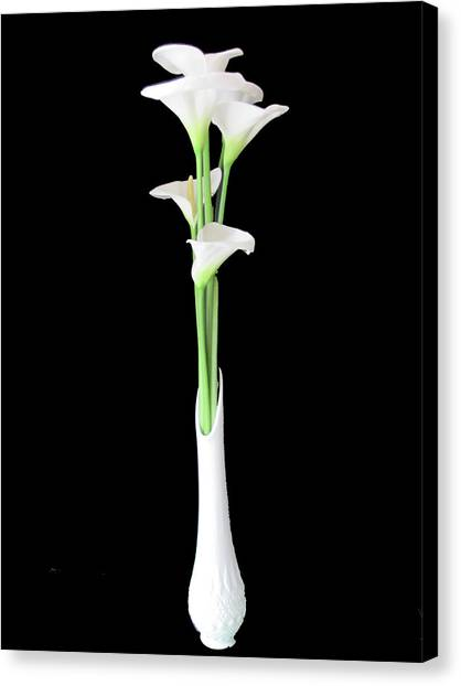 Calla Lily Bouquet Still Life Canvas Print by Judith Turner
