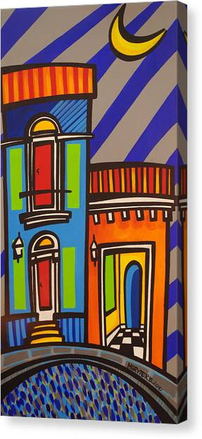Puerto Canvas Print - Calle Luna by Mary Tere Perez