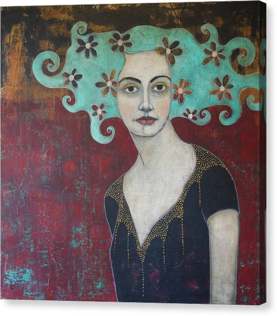 Portrait Canvas Print - Calling From The Deep by Jane Spakowsky