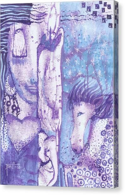 Calling Upon Spirit Animals Canvas Print