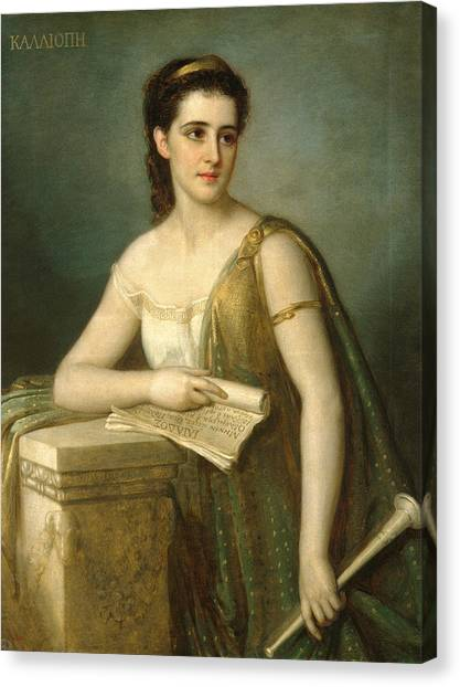 Canvas Print featuring the painting Calliope by Joseph Fagnani