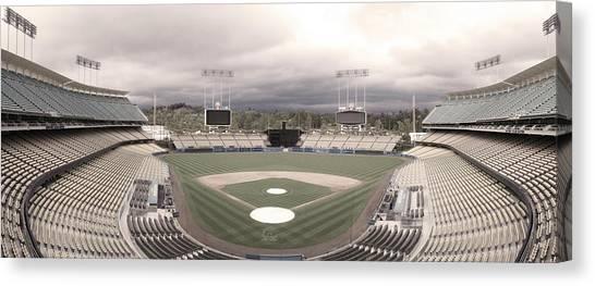 Baseball Stadiums Canvas Print - Calm Before The Blue Storrm by Esteban Ramirez