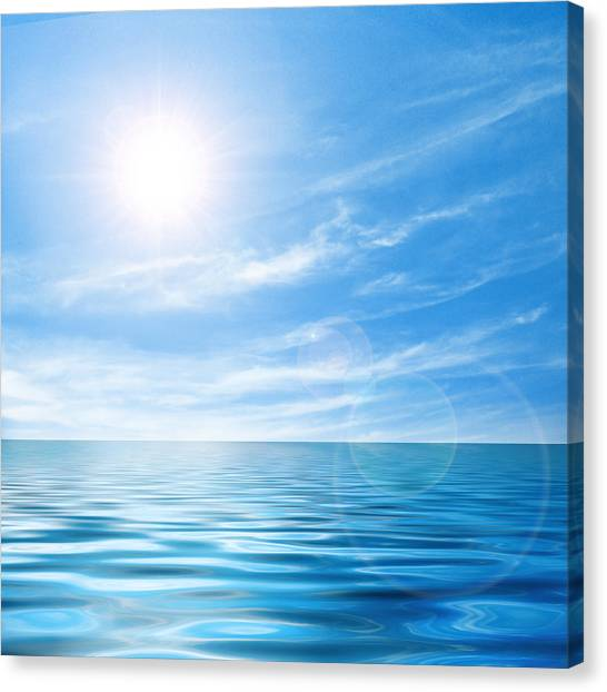 Surf Canvas Print - Calm Seascape by Carlos Caetano