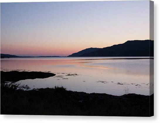 Calm Sunset Loch Scridain Canvas Print