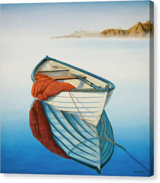 Fishing Boats Canvas Print - Calm Waters by Horacio Cardozo
