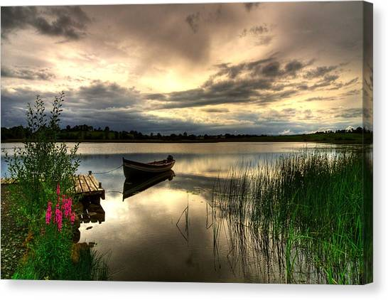 Calm Waters On Lough Erne Canvas Print by Kim Shatwell-Irishphotographer