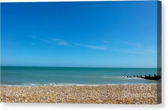 Calming Seaside View Canvas Print