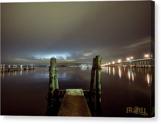 Cloud Canvas Print - Caloosahatchee Nights by Michael Frizzell