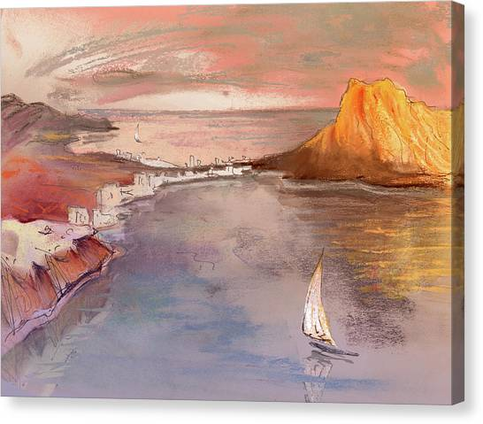 Calpe At Sunset Canvas Print