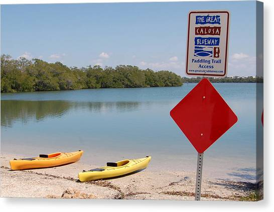 Calusa Blueway Canvas Print by Steven Scott