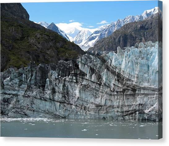 Margerie Glacier Canvas Print - Glacier Bay Seascapes. Calved Margerie Glacier by Connie Fox