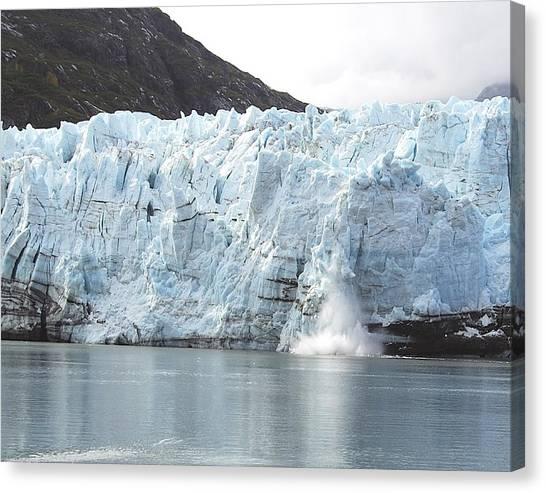 Margerie Glacier Canvas Print - Calving Glacier by Michael Peychich