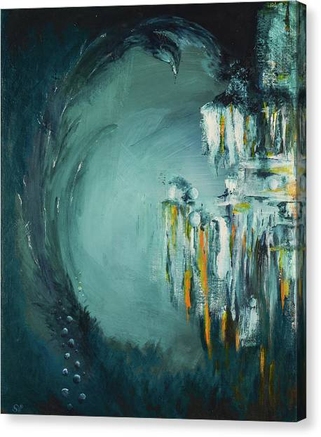 Underwater Caves Canvas Print - Calypso by Sherri Hanna