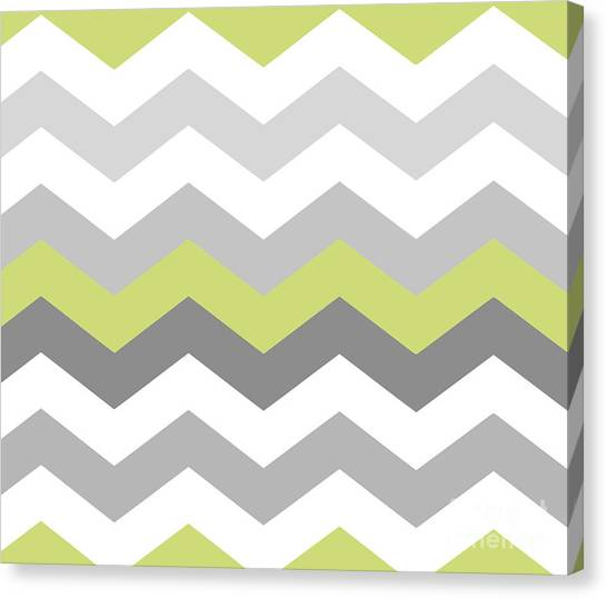 Decorative Canvas Print - Calyx Chevron Pattern by Mindy Sommers