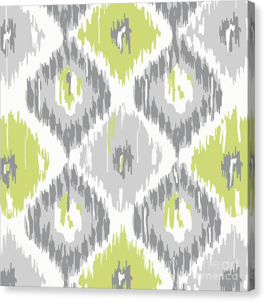 Pattern Canvas Print - Calyx Ikat Pattern by Mindy Sommers