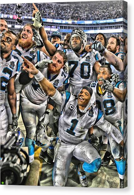Cam Newton Canvas Print - Cam Newton Art 1 by Joe Hamilton