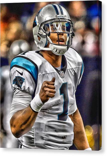 Cam Newton Canvas Print - Cam Newton Art 2 by Joe Hamilton