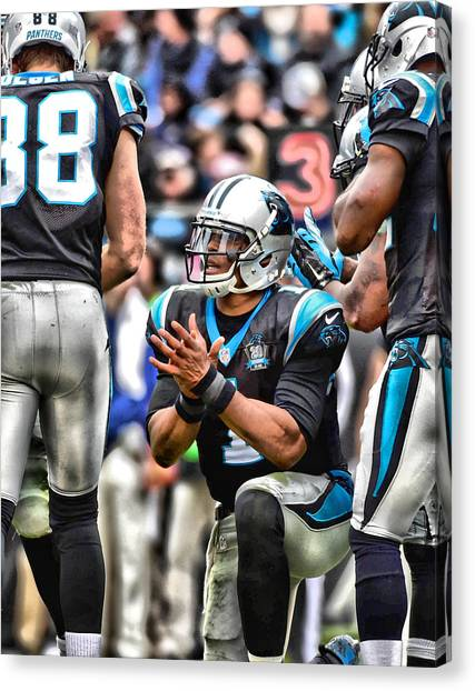 Cam Newton Canvas Print - Cam Newton Art 4 by Joe Hamilton