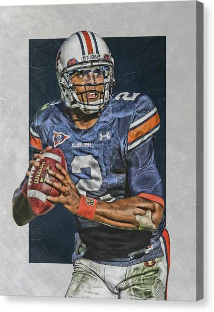Cam Newton Canvas Print - Cam Newton Auburn Tigers Art by Joe Hamilton