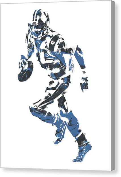 Cam Newton Canvas Print - Cam Newton Carolina Panthers Pixel Art 10 by Joe Hamilton