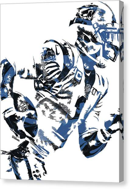 Cam Newton Canvas Print - Cam Newton Carolina Panthers Pixel Art 4 by Joe Hamilton
