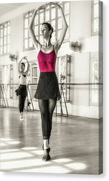 Canvas Print featuring the photograph Camaguey Ballet 1 by Lou Novick
