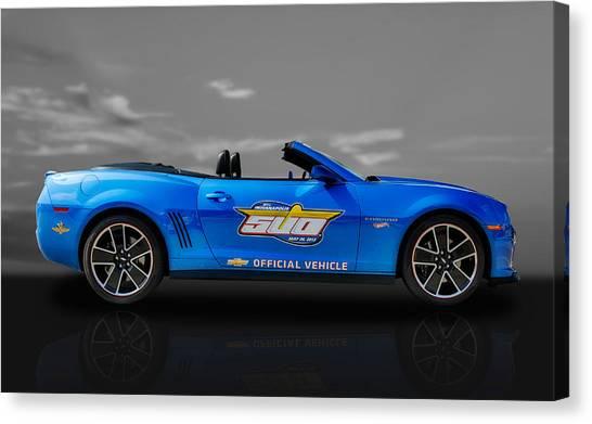 2013 Chevy Camaro Hot Wheels Pace Car  -  Cam3 Canvas Print