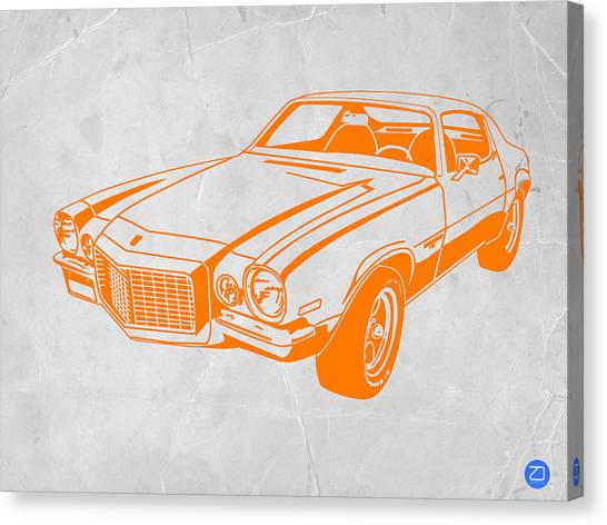 Muscles Canvas Print - Camaro by Naxart Studio