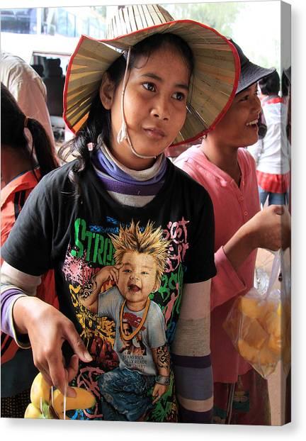 Cambodia Sales Girl Canvas Print