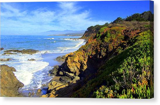 Cambria By The Sea Canvas Print