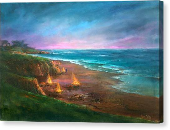 Cambria's 4th Of July Canvas Print by Sally Seago
