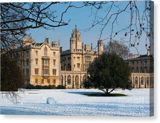 Cambridge Snowscape Canvas Print
