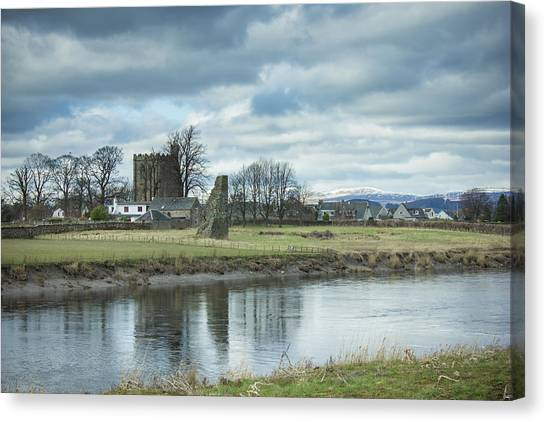 Cambuskenneth Abbey And The River Forth Canvas Print