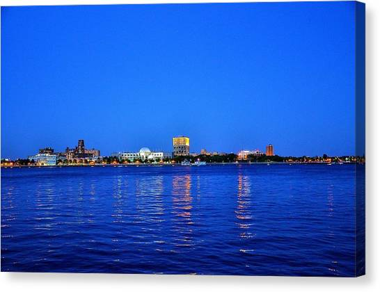Camden Night Skyline Canvas Print by Andrew Dinh
