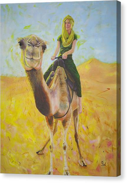 Camel At Work Canvas Print