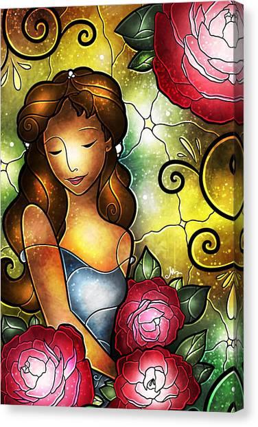 Lady Camellia Canvas Print