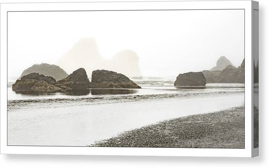Camel Rock From Moonstone Beach Canvas Print
