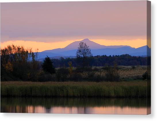 Camel's Hump Mountain From Dead Creek Canvas Print