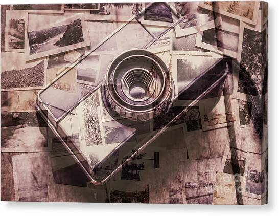 Old Age Canvas Print - Camera Of A Vintage Double Exposure by Jorgo Photography - Wall Art Gallery