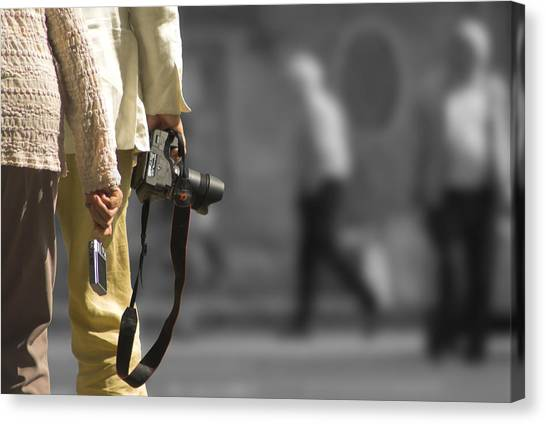 Cameras Unholstered Canvas Print