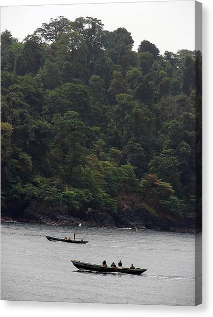 Cameroon Fisherman Africa Canvas Print