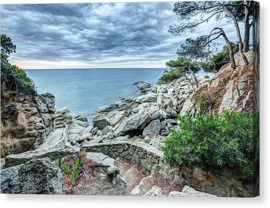 Ocean Canvas Print - Cami De Ronda, Sant Antoni De Calonge by Marc Garrido