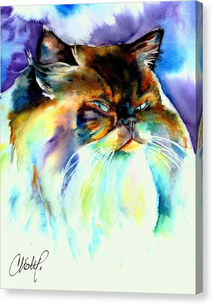 Himalayan Cats Canvas Print - Camille by Christy Freeman
