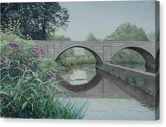 Camillus Canal Canvas Print by Stephen Bluto